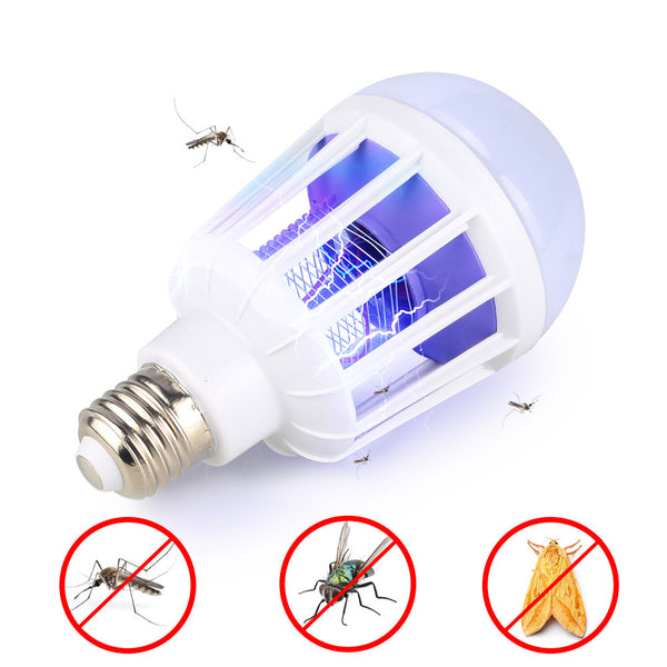 2 in 1 Bug Zapper LED Bulb 110V 220V Mosquito Killer Lamp 8W/9W Pest Control Light Bulb E27/B22 Base