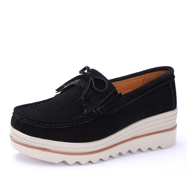 472e1cd9b9dd4 ... EOFK 2019 Design Spring Autumn Women Moccasins Flats Suede leather Tassel  Shoes Lady Loafers Slip On ...