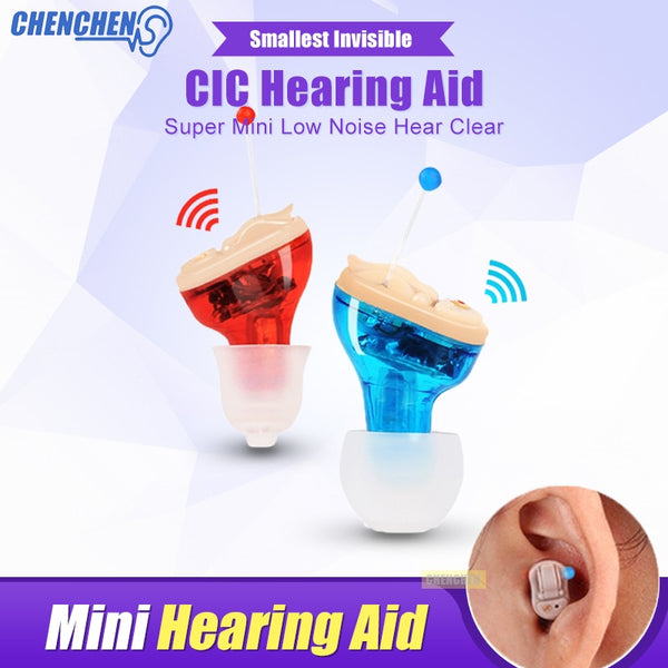 Ear Sound Amplifier Hearing Aid for Hearing Loss Elderly Deaf Audiphone Mini Invisible