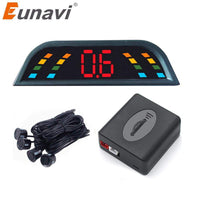 Eunavi Car Auto Parktronic LED Parking Sensor With 4 Sensors Reverse Backup Car Parking Radar Monitor Detector System Backlight - inaaz.biz