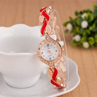 Fashion Ladies Quartz Bracelet Watch Rose Gold Female Wristwatch Luxury Montre Femme Metal Band Women Diamond Watches Brand JW - inaaz.biz