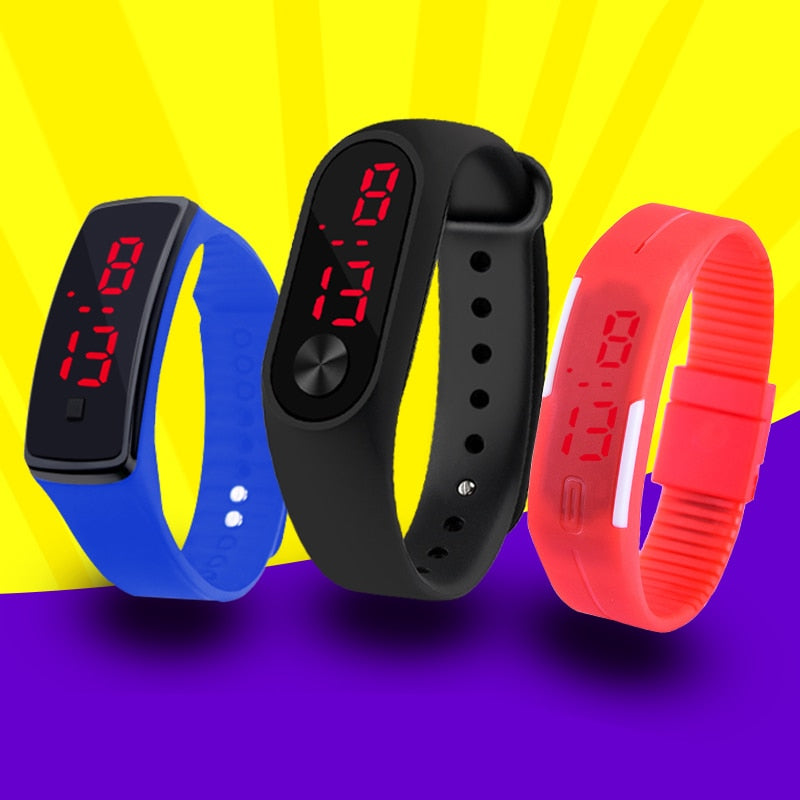 c9bf2c2c3 Fashion Men Led Digital Watch Women Casual Yoga Silicone Sports Wristwatch  Children Kids Watches Outdoor Bracelet Watches Clock