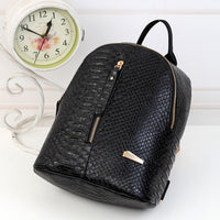 Fashion PU leather backpack Girl travel packs double shoulder Zipper back packs students girl backpack Scool drop ship #YL5 - inaaz.biz