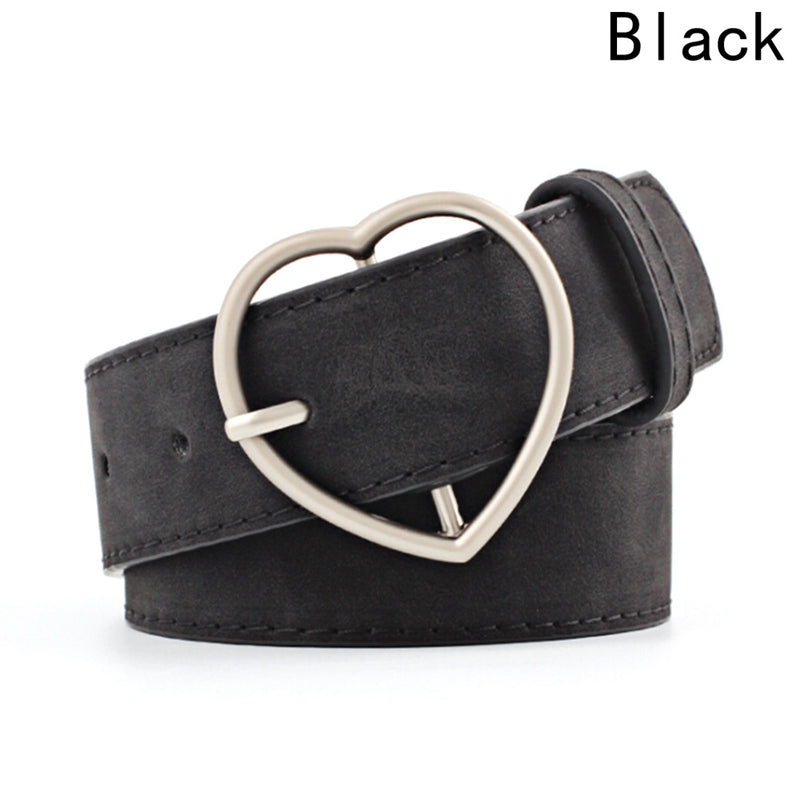 04b826bb9bc55 ... Frosted leather belt Brand Belts For Women Heart Shape Pin Buckle Designer  Belts Women High Quality ...