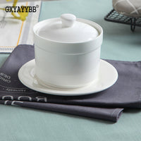 GXYAYYBB 1 / Set of hot noodle soup pot high temperature stew stew small ceramic casserole cute mini ceramic casserole covered - inaaz.biz