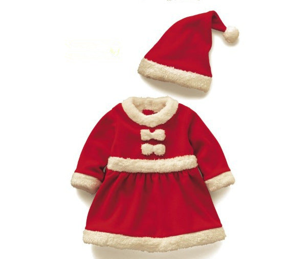 girls christmas costumes children christmas play costume santa claus dress up clothing sets boys performance clothes