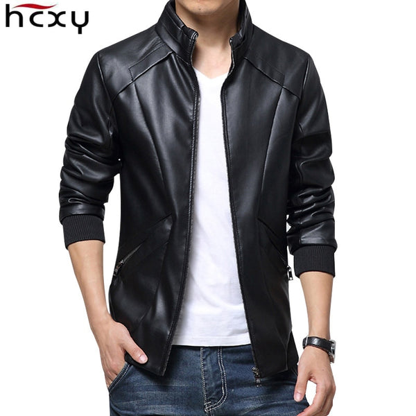 Men Jacket HCXY New Leather Jackets Winter Leather clothes Leather Jackets Business casual Coats