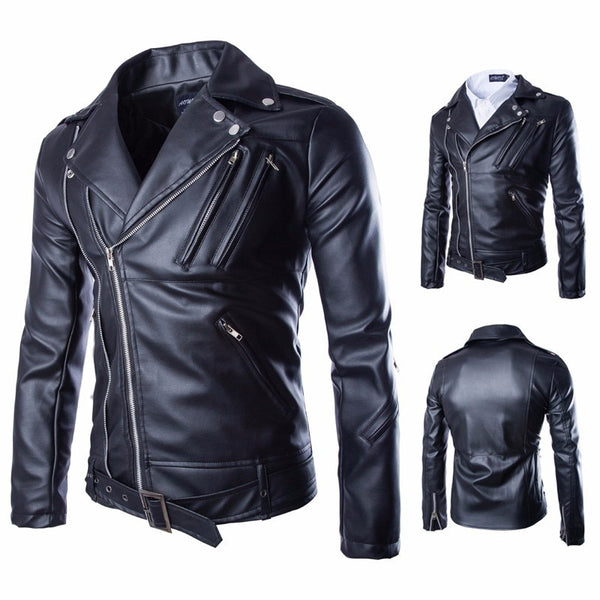 HOWL LOFTY leather jacket men fall and winter New England boutique lapel temperament leather multi-zipper design men clothing - inaaz.biz