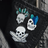 Happy Halloween !  Party Gift Punk Gothic Dark Skeleton Skull Collection Coffin Zombie Mummy Rib Enamel Brooches Pins