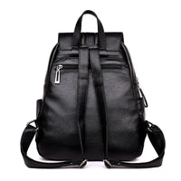 High Quality Leather Backpack Woman New Arrival Fashion Double Zipper Backbag Female Large Capacity School Bag Mochila Feminina - inaaz.biz