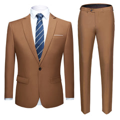 Men suits 2 pcs wedding suit jacket pants trousers sets S-6XL Size