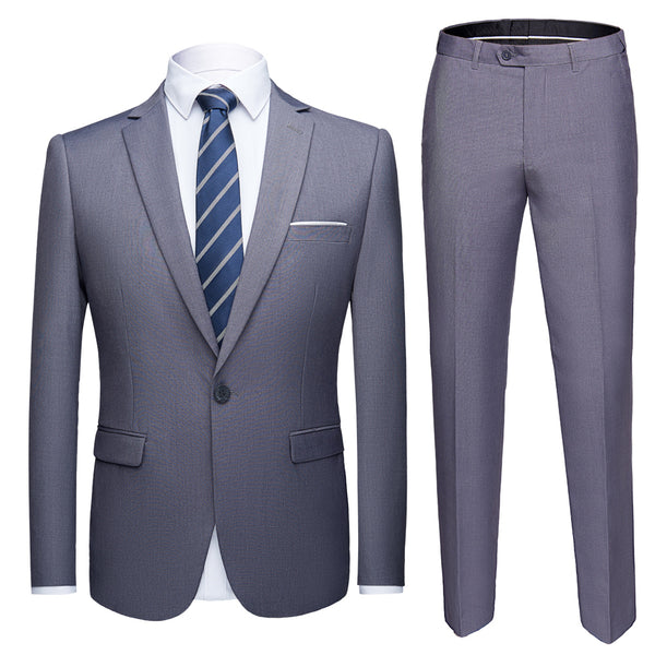 Men suits 2 pcs wedding suit jacket pants trousers sets S-6XL Size - inaaz.biz