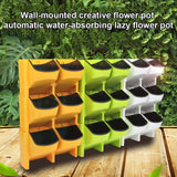 Hot Sale Self Watering Flower Pot Stackable Vertical Planter Wall Hanging Durable For Garden Balcony