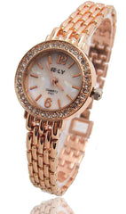 Hot Sales E-LY Brand Rose Gold Bracelet Watch Women Ladies Fashion Crystal Dress Quartz Wrist Watch Relogio Feminino
