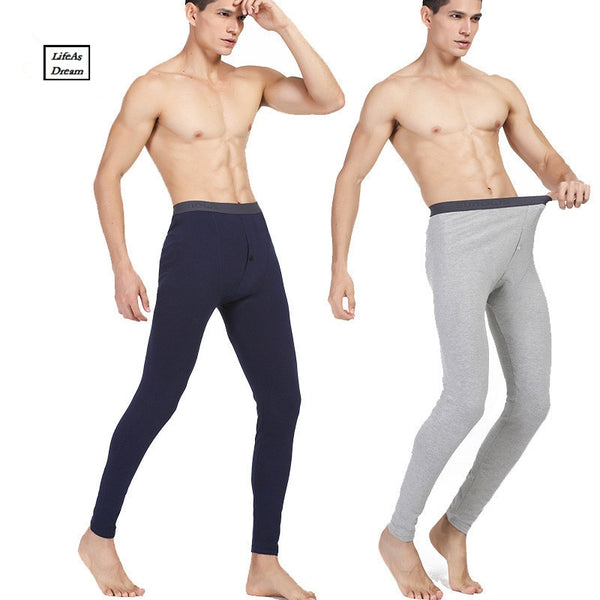 Hot Winter Men Long Johns Cotton Thermal Underwear Men Warm Long Johns Leggings Pants High Quality - inaaz.biz