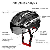 INBIKE Cycling Helmet Ultralight Bike Helmet Men Mountain Road Women MTB  Windproof Glasses Bicycle Helmet Casco Ciclismo MX-3