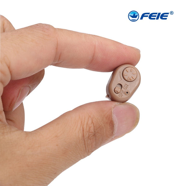 ITC Hearing Aid for the Elderly Deaf mini in ear Invisible Sound Amplifier New Technology Low Noise Hearing Aids AdjustableS-213