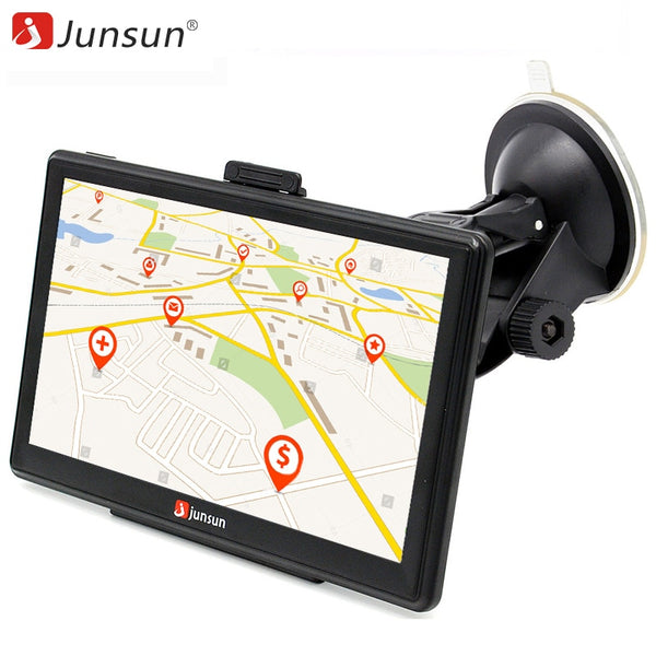 Junsun 7 inch HD Car GPS Navigation Capacitive screen FM 8GB Vehicle Truck GPS Car navigator Europe Sat nav Lifetime Map - inaaz.biz