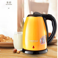 KAMJOVE stainless steel High power electric kettle Heat preservation electric teapot automatic power off double kettle
