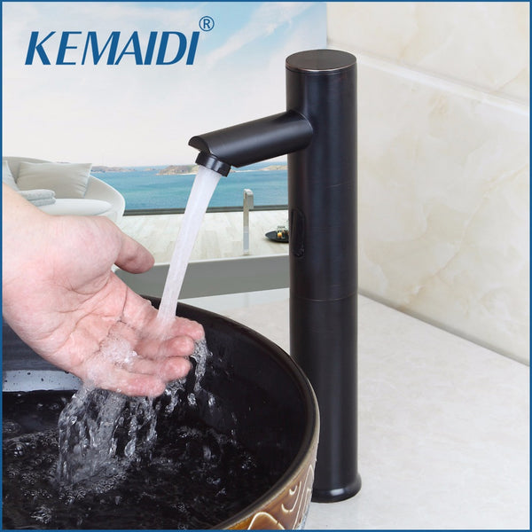 Water Saving Faucet, KEMAIDI Single Handle Hot and Cold Water Sense Faucet, Automatic Infrared Sensor Tap - inaaz.biz