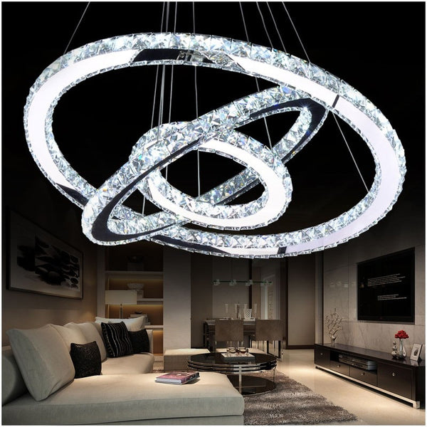 Chandelier LED Crystal Light Modern LED Circle Chandelier Lustres LED Ring Lighting Home Decor - inaaz.biz