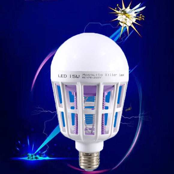 LED Mosquito Killer Lamp E27 AC 220V 15W LED Bug Zapper Trap Light Electric Insect Fly Bug Anti Mosquito Repeller Lamps