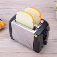LSTACHi Stainless Steel Bread Toaster 220V 750W 2Slices 5 Files Automatic Toast Cooking Tool EU Plug Sandwich Maker Breakfast - inaaz.biz