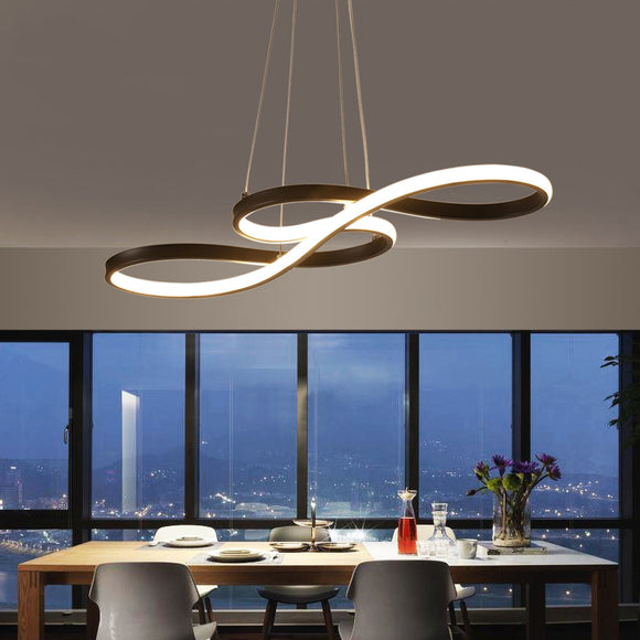 Length 1250/750mm Modern Led Hanging Chandelier For Dining Kitchen Room Bar Suspension luminaire Pendant Chandeliers AC85-265V
