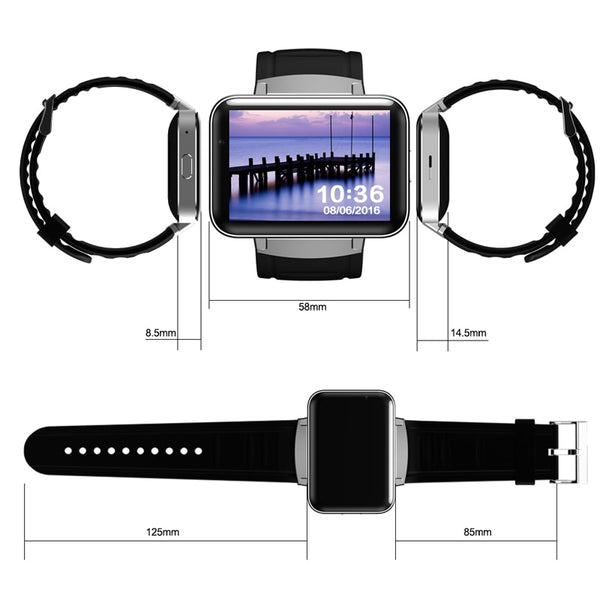 Smartwatch Cell Phone Letine DM98 Luxury Android 3G Sim