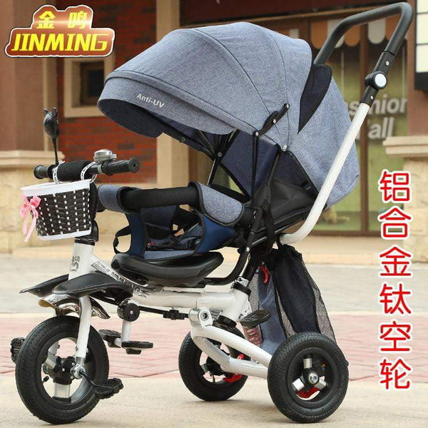 Light Folding Child Tricycle Trolley Baby Bike Infant Stroller Buggiest Suit For Month 6 to Age 3 - inaaz.biz