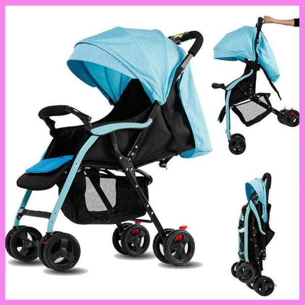 Lightweight Portable Umbrella Car Shock Absorber Removable Baby Stroller Can Sit Lie Baby Carriage Reversable Handle Light Pram - inaaz.biz