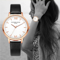 Luxury Famous Ladies Watches Wrist Watch Fashion Watches Leather Band Quartz Watch Casual Women Bracelet Watches Luxe Women's - inaaz.biz