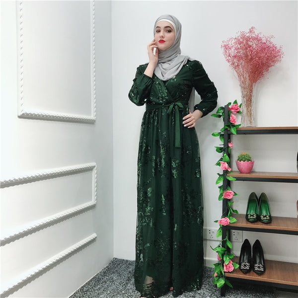 d8fb4c735831e Abaya Muslim Dress Luxury Lace Embroidery Cardigan Long Gowns Jubah ...