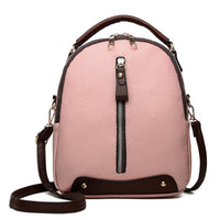 MOLAVE PU Leather Backpack 2019 Soft Women Vintage College Girls Student School Bags Mochila Travel Female Rucksack - inaaz.biz
