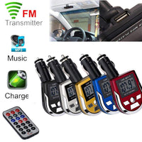 MP3 Player Wireless FM Transmitter Modulator Car Kit USB SD MMC LCD Remote SD Card 7 EQ SCV video files remote control 2018 - inaaz.biz