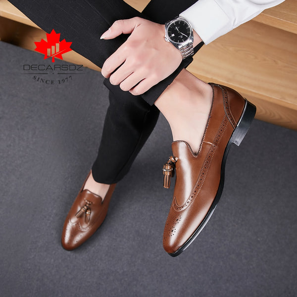 Men Shoes New Autumn Fashion Business Footwear Comfy Leather Design Formal Shoes