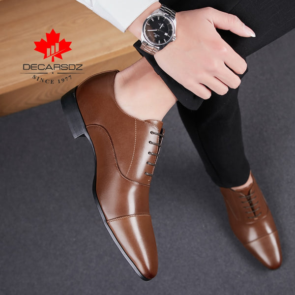 Men Shoes New Brand Autumn Formal Shoes Casual Leather Footwear Office Lace-Up Shoes