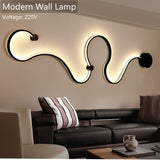 Modern Wall Lamps bedroom study living room Acrylic White black iron body sconce LED lights Fixtures