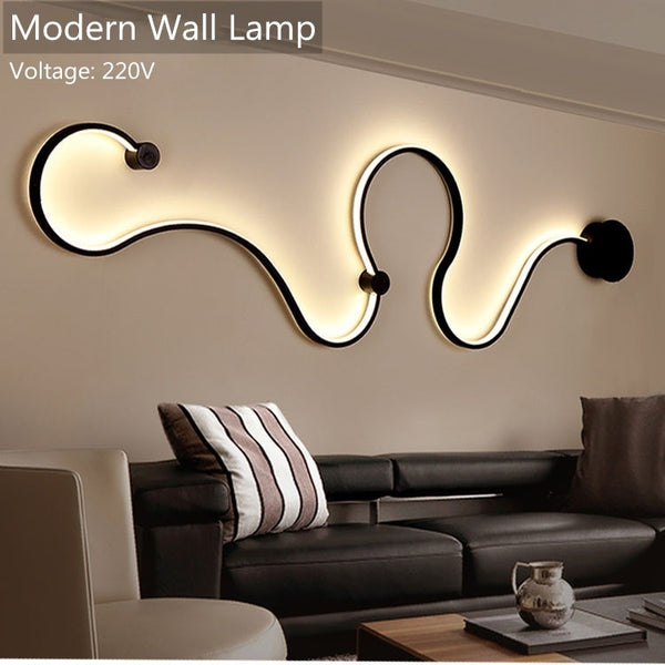 Modern Wall Lamps bedroom study living room Acrylic White black iron body sconce LED lights Fixtures - inaaz.biz