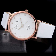 Montres Femmes 2019 Diamond Bracelet Watches Women Fashion PU Leather Wristwatch Men's Quartz Watch Woman Clock Relogio Feminino