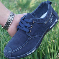 NEW Canvas Men Shoes Denim Lace-Up Men Casual Shoes Plimsolls Breathable Male Footwear Spring Autumn sneakers size 39--46 - inaaz.biz