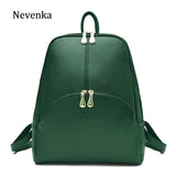 Nevenka Leather Backpack Women Solid Backpacks Light Weight Bag Cute Top Handle Backpacks for Girls Mini Backpack Female Bagpack - inaaz.biz