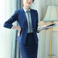 New 2019 Spring Summer Formal Elegant Women's Pants Suit Set Business Blazers Trouser Suits 2 Piece Work Wear Sets Office Ladies