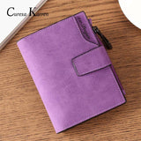 Women wallets zipper wallet multi-function fashion fresh large capacity leather coin purse - inaaz.biz