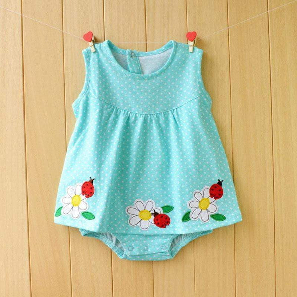 Newborn Baby Girl Dresses Cotton Baby Girls Clothing Roupas Bebe 2018 Toddler Kids Costume Summer Floral Baby Girl Bodysuit