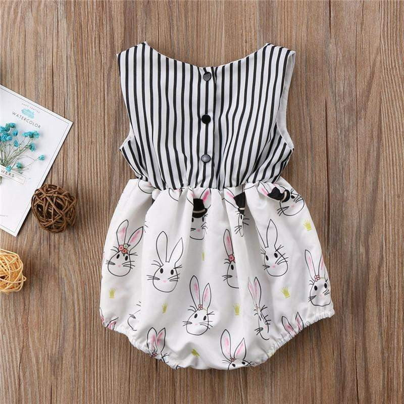 eb32d57d6 Newborn Toddler Baby Girls Bodysuits Sleeveless Summer Rabbit Easter Bunny  Girl Clothing Bownot Clothes Sunsuit Outfits