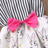 Newborn Toddler Baby Girls Bodysuits Sleeveless Summer Rabbit Easter Bunny Girl Clothing Bownot Clothes Sunsuit Outfits