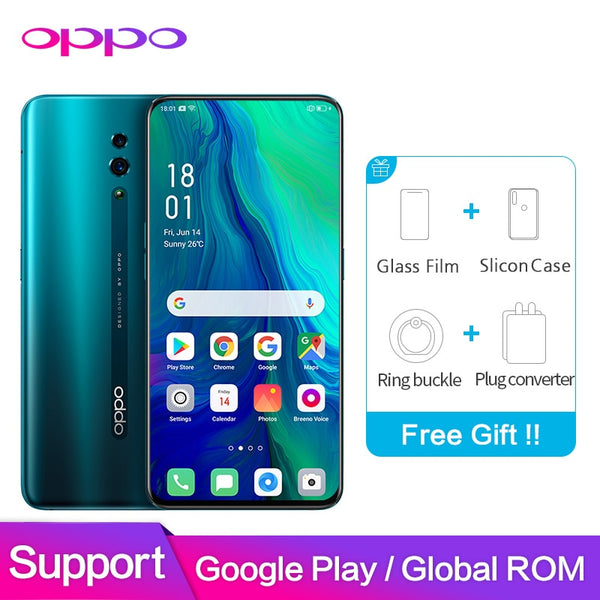 Smartphone OPPO Reno Global ROM 6GB 128GB Support NFC Google 48MP+5MP 3765mAh Snapdragon 710 Octa Core