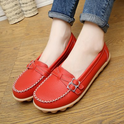 b66ab47b4e51 PROWOW Women Flats Plus Size 35-41 Loafers Women Hollow Out Flat Shoes  Woman Genuine ...