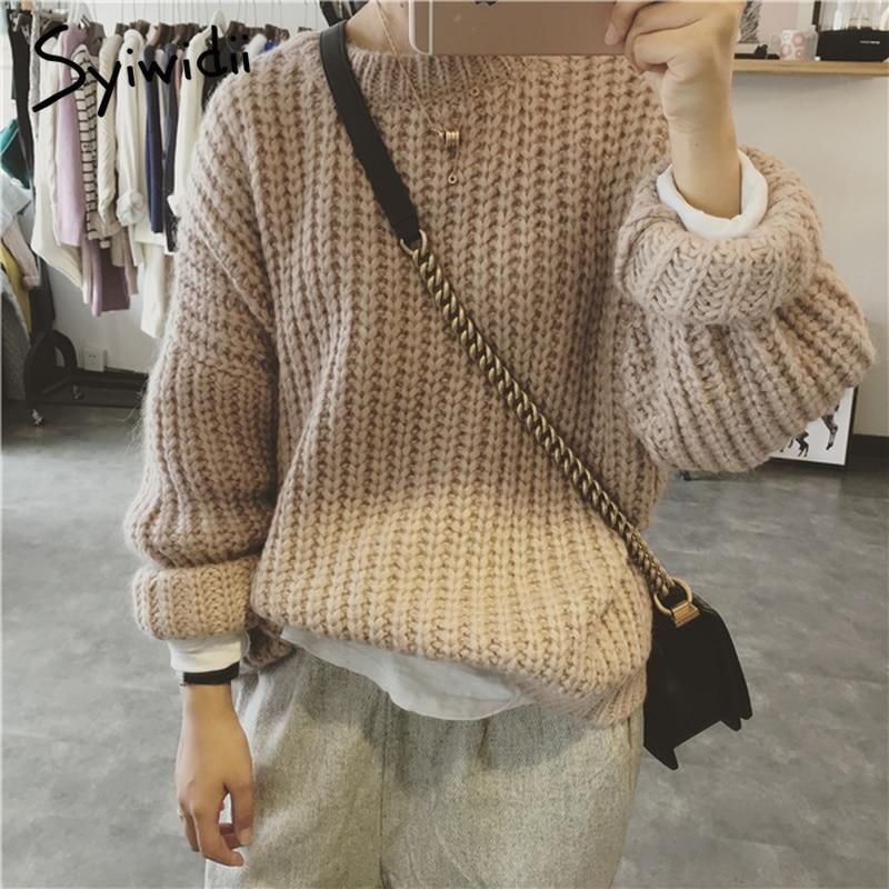 Popcorn Sweater 2019 Trending Style Pullover Women Warm Winter Spring  Korean Top Plus Size Sweaters Long ... 9014bc1ac